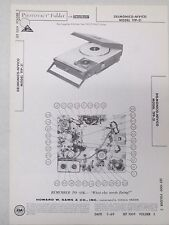Sams Photofact Folder Radio Parts Manual Delmonico Nivico TFP-31 Record Player