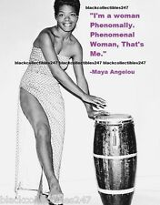 MAYA ANGELOU PHOTO 5x7 Celebrity Writer Quotes Actor Dancer Free Shipping