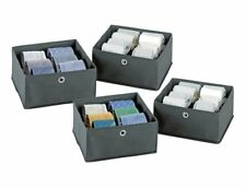 4 WENKO Schubladenorganizer 28x28x13 Schubladenteiler Organizer Box f. Schublade
