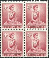 Australia 1959 SG313 4d carmine-lake QEII block MNH