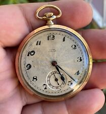 15 jewels,working condition,serviced Rolex Marconi pocket watch