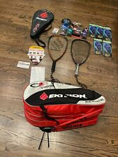 New listing Lot of Ektelon Equipment-Racquets, Racquetballs, Gloves, Wristbands,Googles,Case