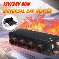 12V/24V DC 80W Universal Car Heater Warm Heating Cooling Fan Defroster Demister
