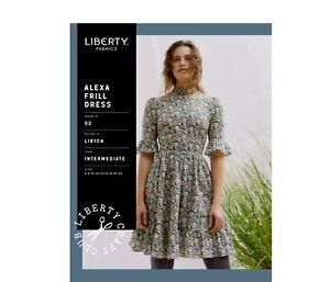 Liberty Of London Alexa Frill Dress sewing pattern Sizes 6-22