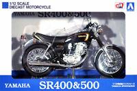 Aoshima Yamaha SR400 Black Gold 1/12 MODEL KIT