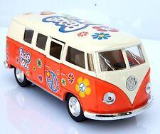 VOLKSWAGEN VW 62 BULLI T1 PEACE & LOVE ARANCIONE Modellino metallo 1:32 cm 13