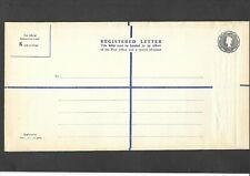 GB Postal Stationery 1959 QEII 1s 3d grey Registered Envelope size K H&B RP81