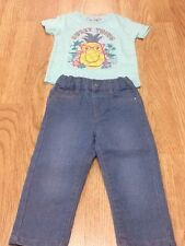 Baby Girl Size 18-24 Months Pineapple T-Shirt & Jeans - Brand New