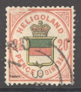 Helgoland Mi. Nr. 18e gest. geprüft Lemberger BPP