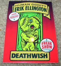 DEATHWISH Skateboards Sticker Freak Show ERIK ELLINGTON skate helmets decal