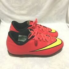 NIKE MERCURIAL SOCCER CLEATS RED YELLOW SIZE 4Y YOUTH