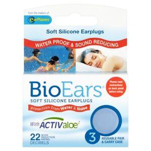 BioEars Silicone Earplugs 3 Pairs
