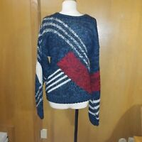 80/90s Vintage KOMAN SPORT Coogi / Cosby Style Heavy Knit Sweater Large