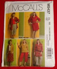 M5437 McCall's Sz RR 18W-24W Women's Shirt Dress Skirt Capri Pants Pattern UNCUT
