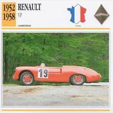 1952-1958 RENAULT VP Racing Classic Car Photo/Info Maxi Card