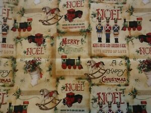 18 x 18 Pillow Cover With Christmas Toys On Home Décor Fabric