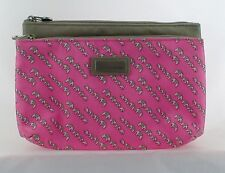 Jim Thompson Cosmetic Bag? Elephants Pink Gray Bag with Mirror Inside
