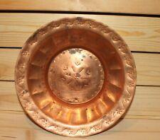 Vintage hand made folk copper bowl