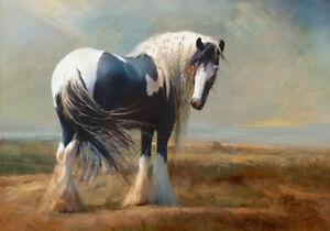 Country Draft Provincial Landscape Farm Paint Horse Painting Canvas Print A3