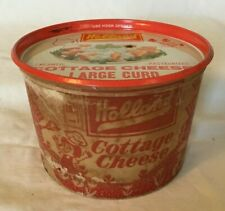 Holland Indiana Holland Dairy Cottage Cheese Container with Tin Lid