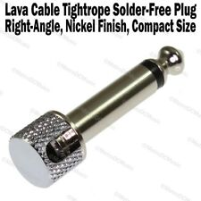 Lava Cable Tightrope Solder-Free Right-Angle Plug Patch Solderless Cord NEW