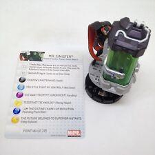 Heroclix Chaos War set Mr. Sinister #047 Super Rare figure w/card!