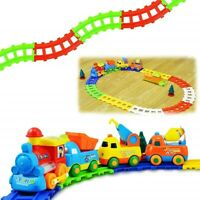 Happy Builders Choo Choo Cartoon B/O Train Track Set - Kids/Children Toy