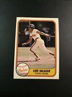 1981 Fleer # 501 LUIS SALAZAR San Diego Padres ROOKIE Great Card Look !