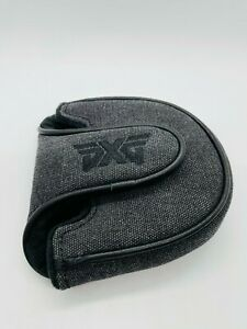 PXG Grey Canvas Leather Magnetic Mallet Golf Putter Headcover Unused Mint Rare