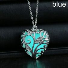 Magical Glow in the Dark Locket Love Heart Pendant Luminous Fairy Necklace
