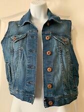 Forever 21 Sleeveless Jean Denim Jacket Vest Size Small