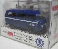 Wiking 1:87 VW T2 Bus OVP 0693 56 THW Technisches Hilfswerk - Berlin Steglitz
