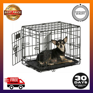 Dog Crate | Midwest iCrate XXS Double Door Folding Metal Dog Crate w/Divider