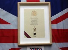 Oath Of Allegiance Royal Army Ordnance Corps (framed with Cap Badge)