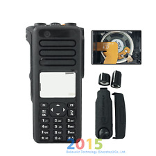 Kit De Reparación Negro caso vivienda cubierta para Motorola XPR7550e Radio (altavoces + Mic)