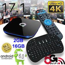 2017 Q-Box Android 6.0 TV Box K17.1 Media Player 2+16GB 5Ghz WIFI Mini Keyboard