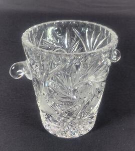 Rare Cut Antique Pinwheel Hobstar ABP Crystal Small ice bucket Really beautiful
