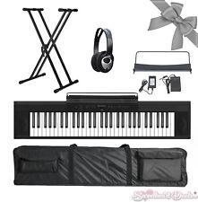 Artesia A-61 61 Key Electronic Digital Piano Keyboard Bundle w/ X-Stand & Case