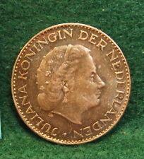 1966 Netherlands Gulden Silver Coin Juliana KM 184 UNC