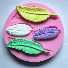 New Feather Silicone Mould Mold Cup Cake Chocolate Decorating Sugarcraft Fondant