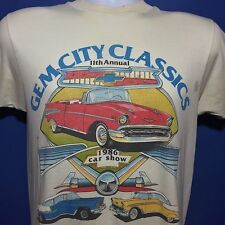VTG 1986 Thrashed Gem City Classic Car Show T Shirt Moraine Ohio 80s *S