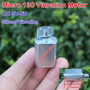 DC 3V 3.7V 5V 6V Strong Vibration Micro 130 Vibration Motor DIY Shock Massager