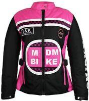 Damen Motorrad Jacke mit Protektoren in verschiedenen Farben
