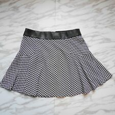 Banana Republic Women Black White Career A-Line Geometric Pattern Skirt Size 6P