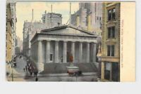 PPC POSTCARD NEW YORK CITY SUB TREASURY WALL ST EXTERIOR VIEW 1909