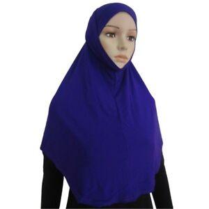 Women's full cover two piece muslim cotton hijab cap Islamic head wear scarf
