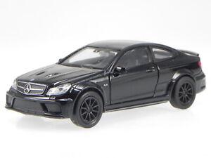 Mercedes C204 C63 AMG Coupe Black Series black diecast model car Welly 1:40