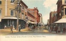 NEW BEDFORD, MA Massachusetts  PURCHASE STREET~Transfer Corner  c1900's Postcard