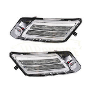 Pair Front Left Right LED Side Marker Light Parking Lamp for 2009-13 VOLVO XC60