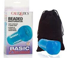 Basic Essentials Stretchy Beaded Blue Massage Sleeve for Men & Travel Bag.?